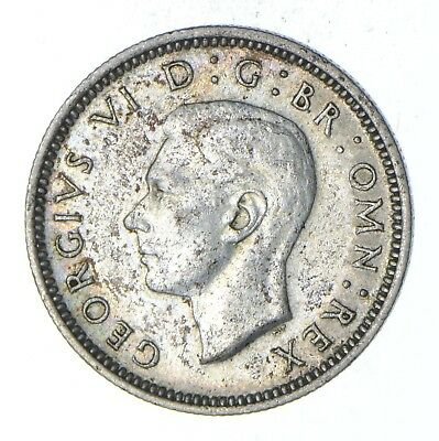 Roughly Size of Dime - 1944 Great Britain 6 Pence - World Silver Coin *925