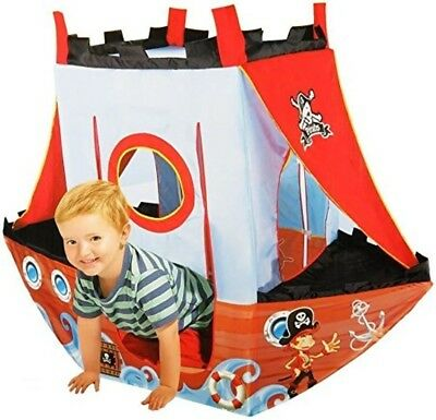 Pirate Ship Play Tent for Kids (Washable and Foldable with Portable Bag)