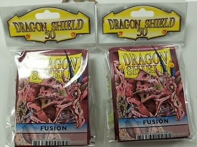 2 Packs of 50 - DRAGON SHIELD SLEEVES*FUSION* MADE FOR PLAYERS by PLAYERS