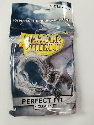 Dragon Shield: CLEAR  (100)  DRAGON Shield Sleeves **Perfect Fit**
