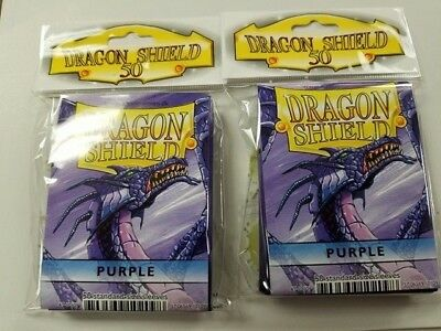 2 Packs of 50 - DRAGON SHIELD SLEEVES *PURPLE* MADE FOR PLAYERS by PLAYERS