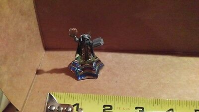 pewter wizard mounted on rainbow crystal base