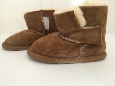 Purebaby Toddler Sheepskin Boots Slippers 2 Year Old
