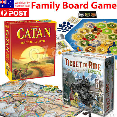 OEM TICKET TO RIDE EUROPE / CATAN AU Brand New Settlers of Catan Board Game