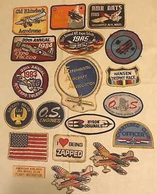 Aircraft aviation patches lot of 18 old rhinebeck aerodrome EAA and more