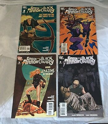 4 x DC COMIC GREEN ARROW and BLACK CANARY No 1 DEC 07 issue + No 2/3/4 08 issues