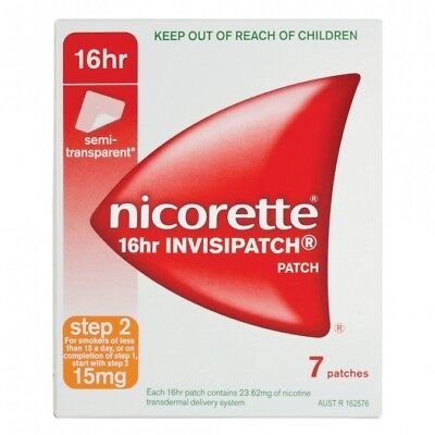 New Nicorette Invisipatch Step 2 15mg Patches 7