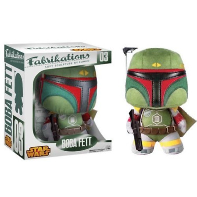 Classic Star Wars Boba Fett Fabrikations Plush Figure Toy #03 FUNKO NEW NIB