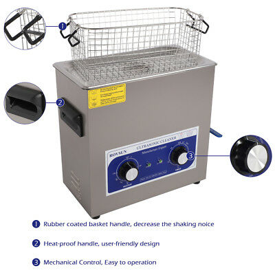 Steel 6L Industry Heater Ultrasonic Cleaners Cleaning Equipment Timer Jewelry US