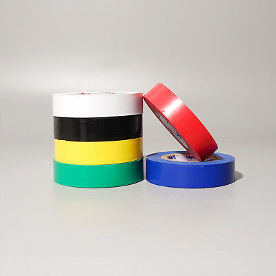 Electrical PVC Insulation Tape Flame Retardant Insulating 17mmx20m Multi Colors