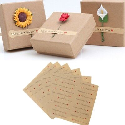 120PCS  Especially For You Kraft Paper Seal Stickers DIY Gifts Baking Labels