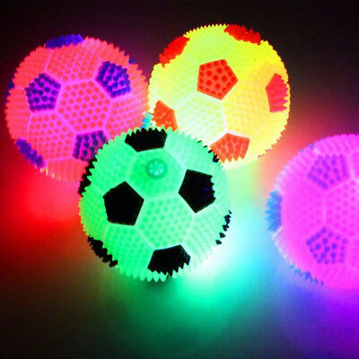 LED Flashing Light Up Color Changing Bouncing Hedgehog Spiky Ball Pet Dog Toy