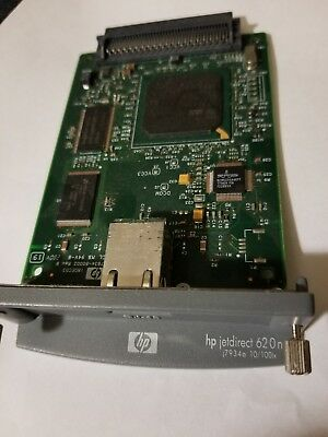 Genuine HP Jetdirect 620n 10/100TX EIO Fast Ethernet Print Server card  J7934a