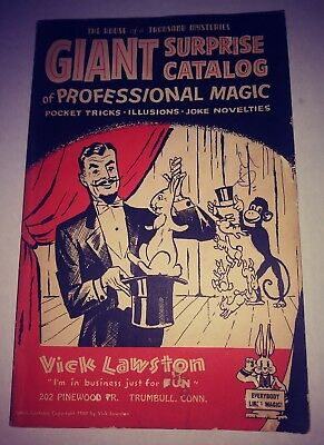 Giant Suprise Catalog Of Professional Magic With Original OrderForm Vick Lawston