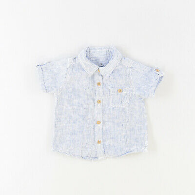 Camisa color Azul marca Early days 9 Meses
