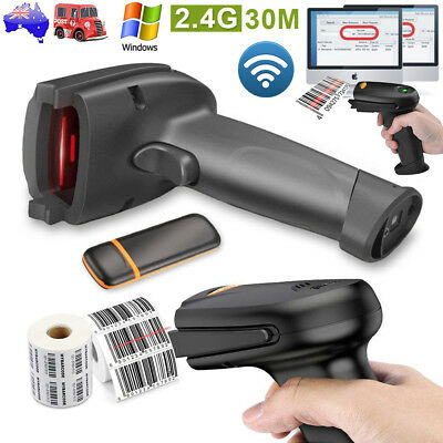 COOCHEER 2.4G Wireless Cordless Handheld Laser Barcode Scanner Anti-interference