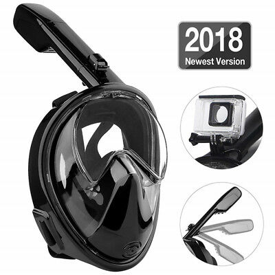 Adult Kids Full Face Diving Mask Scuba Swimming Surface Snorkel Pipe for Gopro H