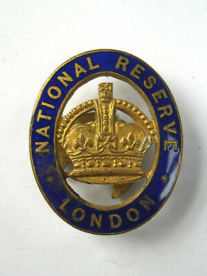 WW1 RARE National Reserve LONDON Badge issued to signify war service completed