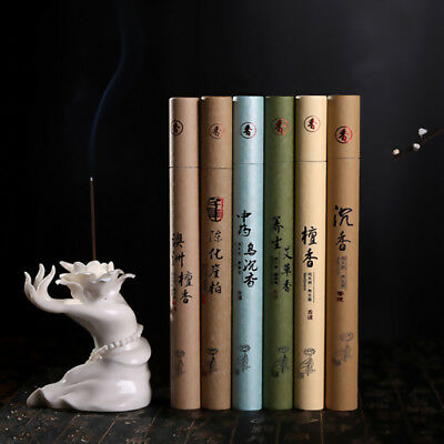 1x Sticks Box Natural Sandalwood Oriental Buddha Buddhist Aromatic Line Incense