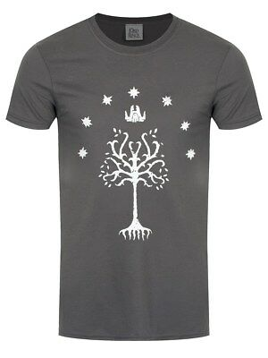 Lord of the Rings T-Shirt Tree Of Gondor Homme Gris