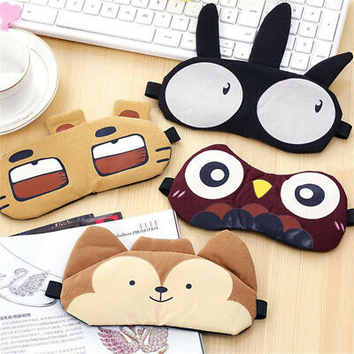 Soft Eye Mask Padded Sleep Travel Relax Sleeping Blindfold Shade Cover