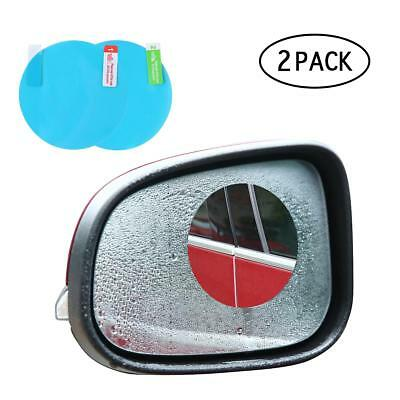 2Pcs Car Anti Fog Coating Rainproof Rear View Mirror Waterproof Protective Film