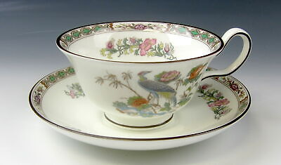 Wedgwood China Kutani Crane Cup and Saucer Set(s) EXCELLENT
