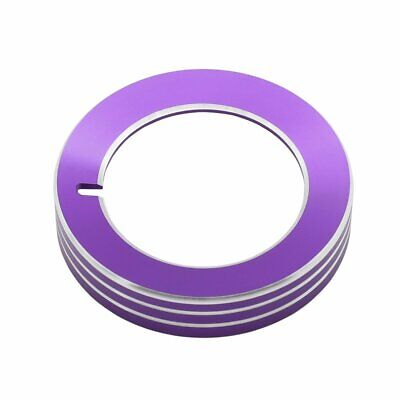 Purple Headlight Switch Knob Cover Alloy Button Trim Decoration for Ford Mustang