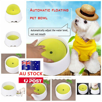 AU Pet Dog Cat Drinking Water Bowl No Wet Mouth Beard No Spill Water Feeder Dish