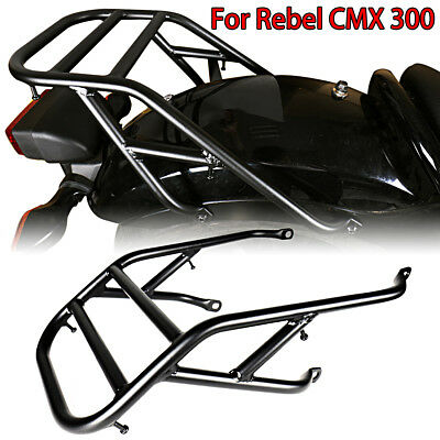 Black Rear Fender Luggage Rack For Honda 2017-2018 Rebel CMX 300 500 Models