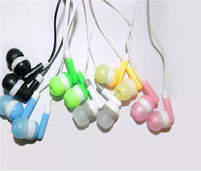 25 pieces wholesale ear phones headphones bulk lot joblot earphones 52p each!