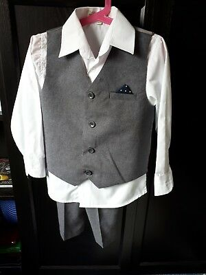 Boys Grey 3 Piece Suit Age 4-5