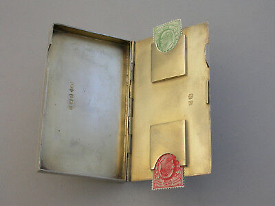 George V Silver Combined Card & Stamp Case By Smith & Bartlam Birmingham 1923