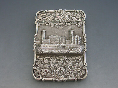 "Victorian Silver Castle-Top Card Case ""Osborne House"" Edward Smith 1852"