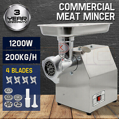 1200W Commercial Meat Grinder Electric Mincer Sausage Filler Maker 150 Kg/H OZ