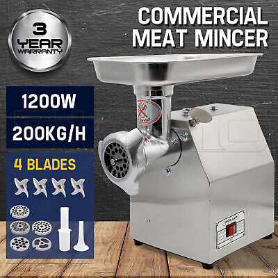 950W Commercial Meat Grinder Electric Mincer Sausage Filler Maker 150 Kg/H OZ