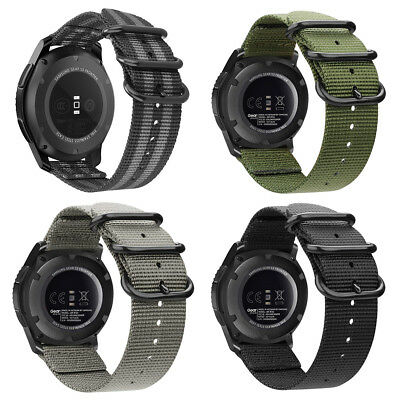 For Samsung Gear S3 Classic / Frontier Smart Watch Band Wrist Strap Woven Nylon
