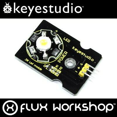 Keyestudio 3W Warm White LED Module KS-010 3000K Arduino Pi Flux Workshop