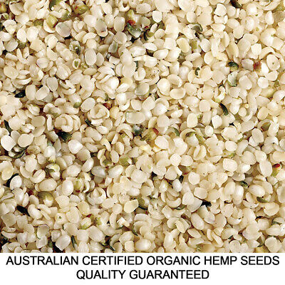 HEMP SEEDS CERTIFIED ORGANIC HULLED 250g, 1kg & MORE FREE&FAST DELIVERY AU WIDE