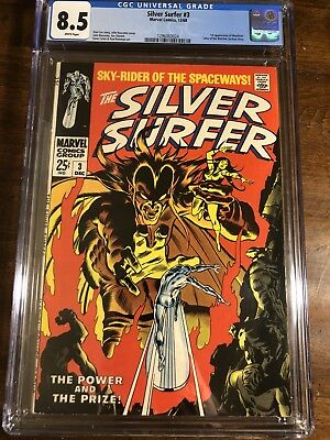 1968 Marvel Silver Surfer #3 1St Appearance Mephisto Cgc 8.5 Ow-W
