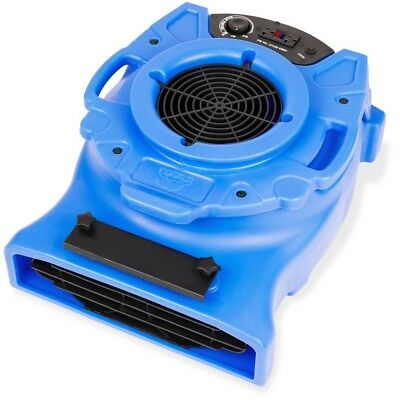 1/4 HP Low Profile Vent Air Mover Carpet Dryer Floor Blower Fan in Blue By B-Air