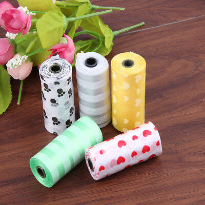 1/5/10/20Roll Pet Degradable Waste Poop Bags Dog Cat Clean Up Refill Garbage bag