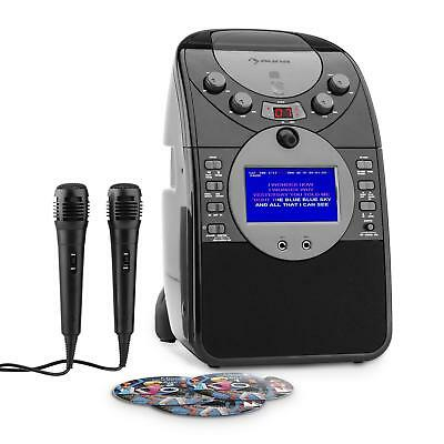 auna ScreenStar karaoke-installatie camera CD USB MP3 incl.2 x microfoon 3x CD+G