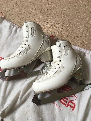 """Edea Ice Fly Ice skating boots size 220 with John Wilson 8"""" Gold Seal Blades"""