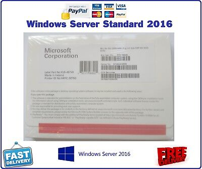 Sealed Microsoft Windows Server 2016 Standard 2 CPU 16 CORES 64BIT UK P73-07113