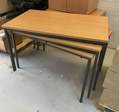 x3 1200mm Office Table / Desk - good condition Beech