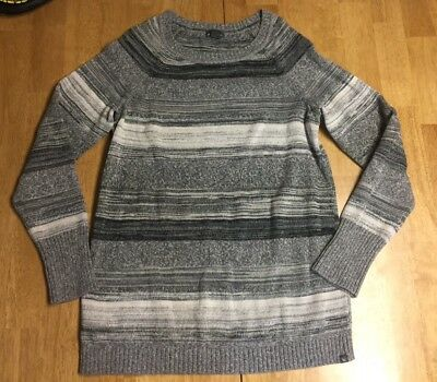 Eddie Bauer Women's Pullover Tunic Style Sweater Size L Large Gray Crew