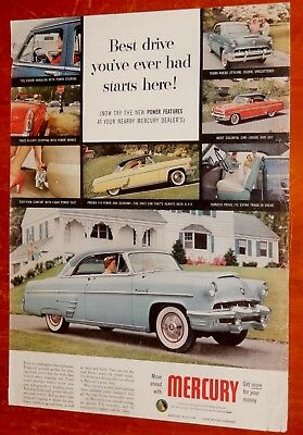 Classy 1953 Mercury Monterey Coupe In Various Colors Ad -  Classic American 50S