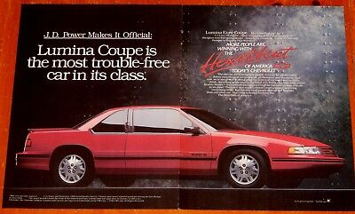 Sweet 1991 Chevy Lumina Euro Coupe In Red Ad - Retro 90S American Auto