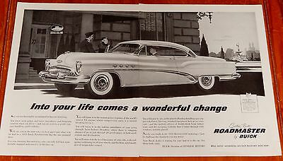 Beautiful 1953 Buick Roadmaster Coupe Large Ad - Vintage 50S Classic American